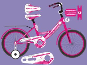 """Велосипед 14"""" Nameless  мод. VECTOR цвет красный/Белый"""