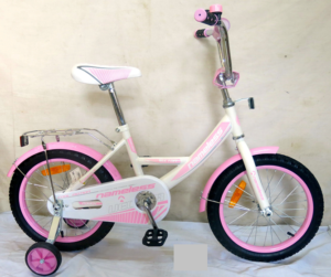 "Велосипед 12"" Nameless  мод. VECTOR цвет Белый/Розовый/хром"