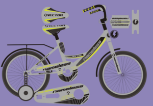 "Велосипед 14"" Nameless  мод. VECTOR цвет серебристый/желтый"
